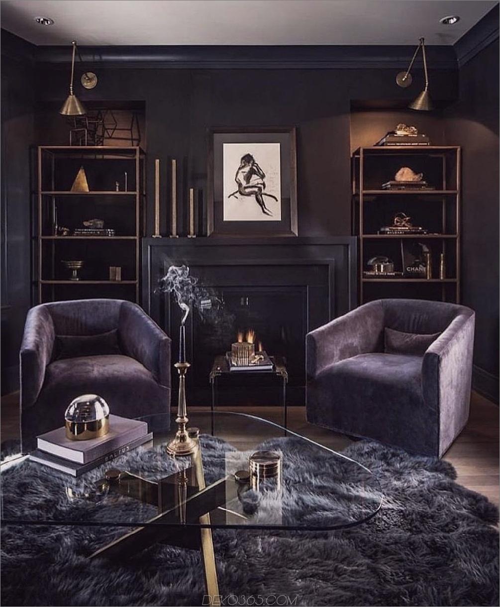 dunklere Farbtöne im Wohnzimmer Weibliche Wohnräume mit maskuliner Note