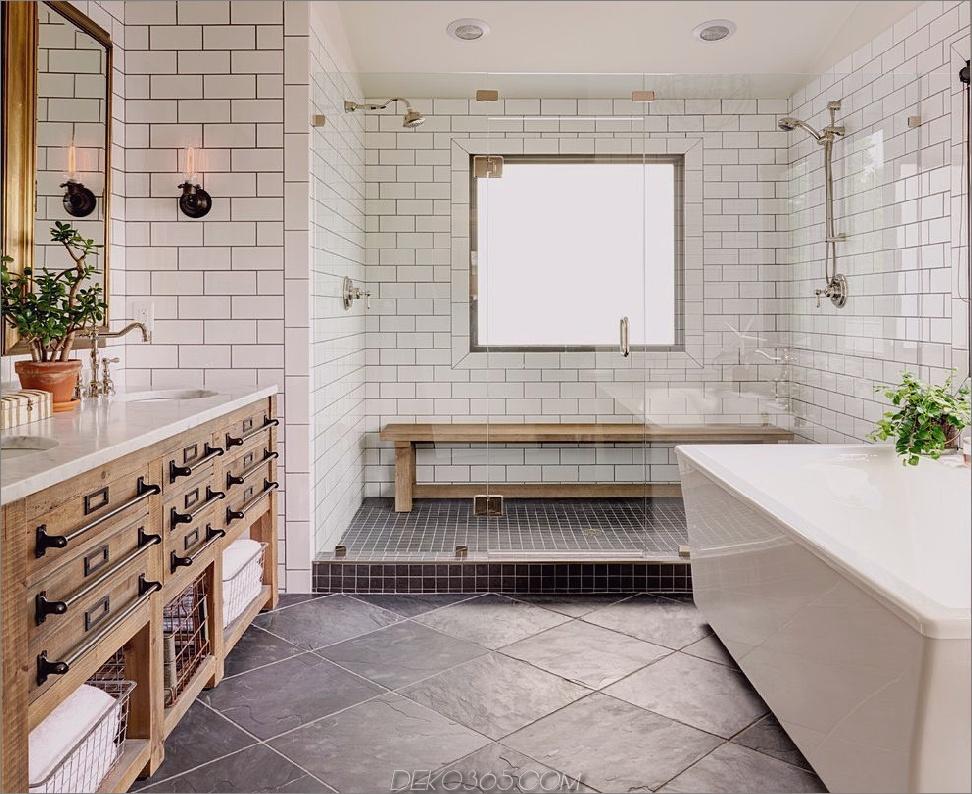Weißes Dekor mit Bauernhaus Weiße Badezimmer-Designs, die Ihre nächsten Renovierungen inspirieren werden