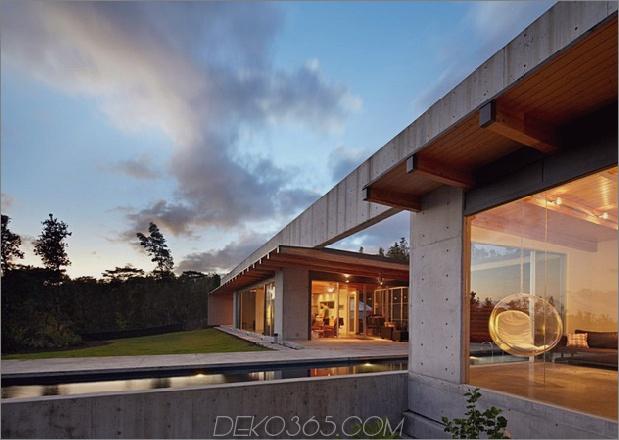 kühles Betonhaus mit Glaswänden erfasst das Leben im Freien 1 thumb 630x447 11247 Weit offener Hausplan auf Big Island von Hawaii