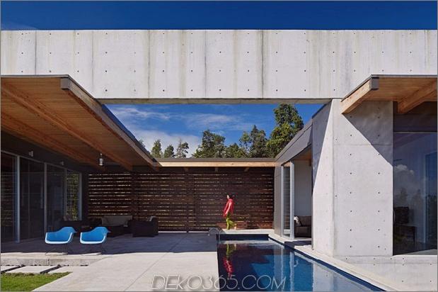 kühles Betonhaus mit Glaswänden erfasst das Leben im Freien 2 thumb 630x419 11249 Weit offener Hausplan auf Big Island von Hawaii