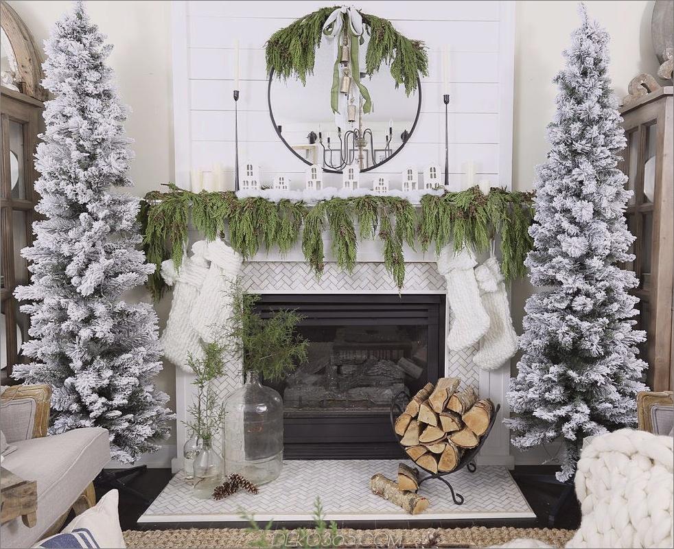 Wie man Weihnachtsfeuer zu Ihrem Kaminsims bringt