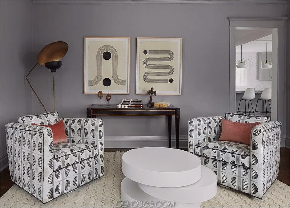 geometrisches Muster in einer Ecke So mischen Sie mühelos die Drucke in Ihrem Zuhause