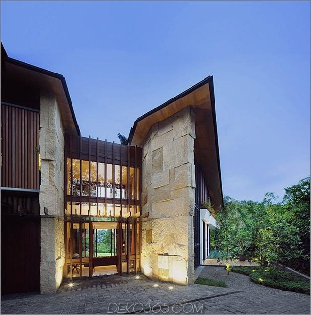 Pavillonhaus mit Doppeldächern und Außenräumen 2 thumb 630x637 13578 Winged Roof House mit Außenräumen