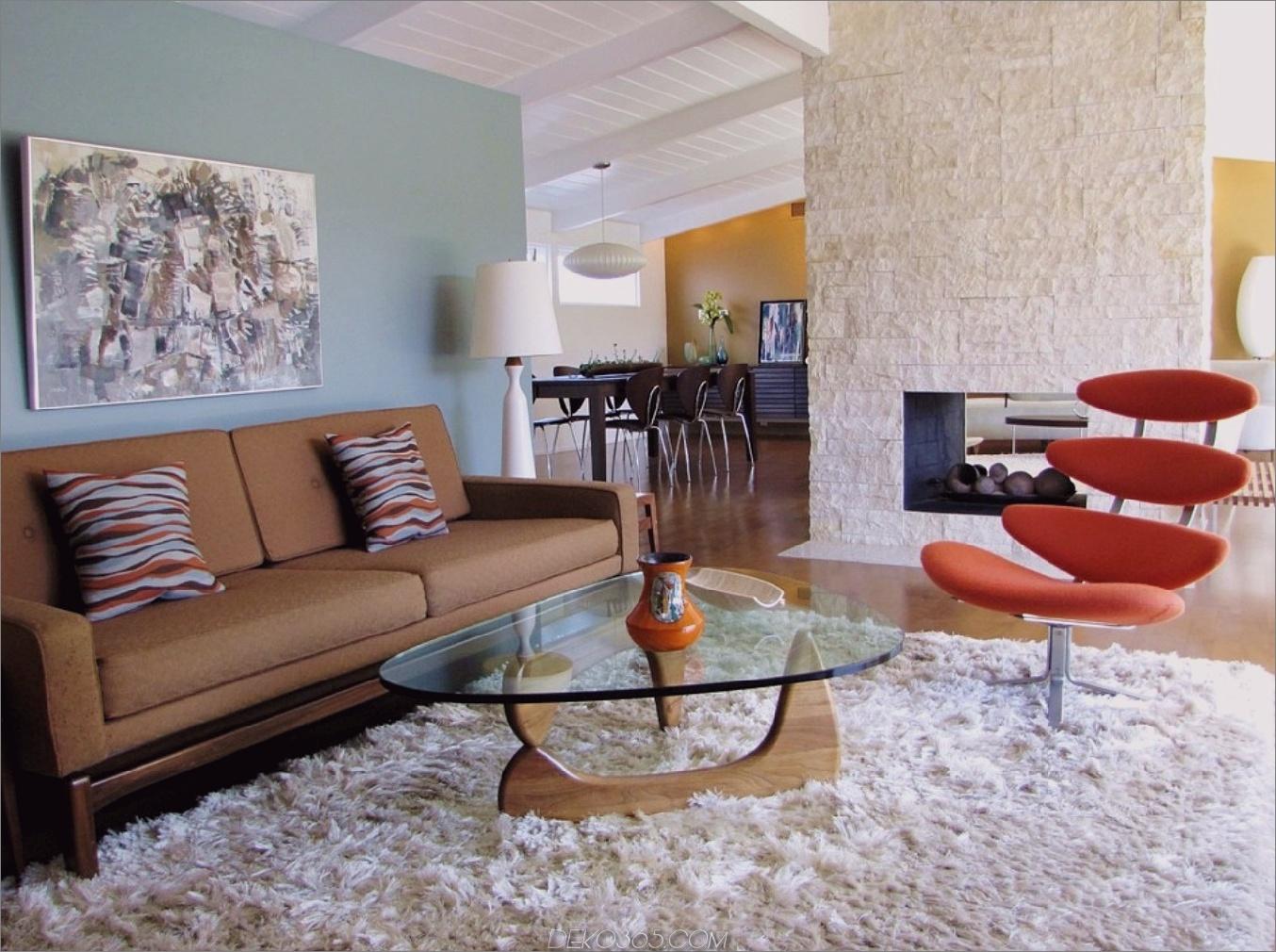 Mid Century Teppich Mid Century Wohnzimmer Ideen, die zeitlos sind