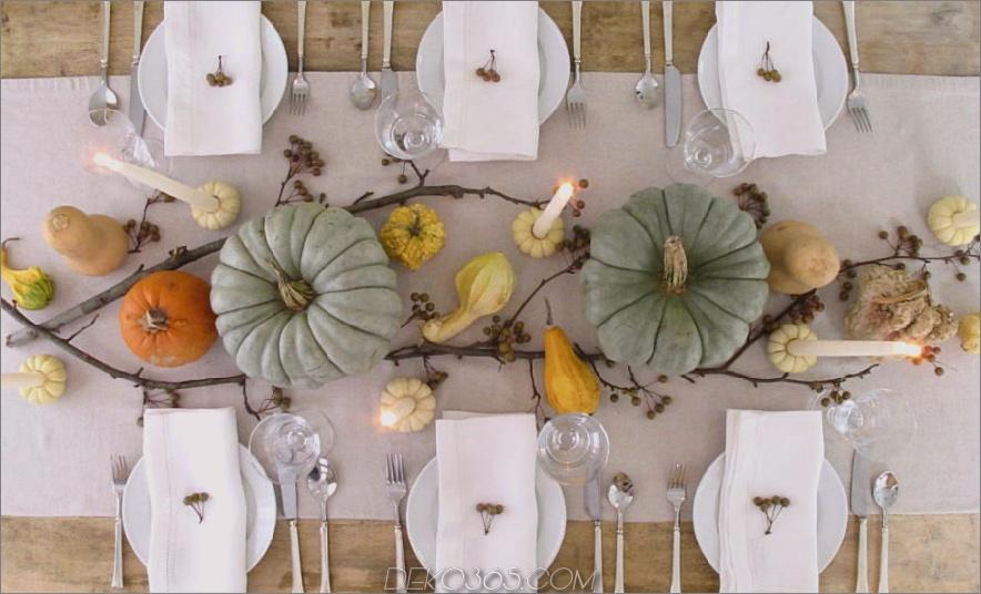 Einfacher Herbst-Esstisch 900x545 Wunderschöner Esstisch Herbstdekor-Ideen für jeden besonderen Tag in Ihrem Leben