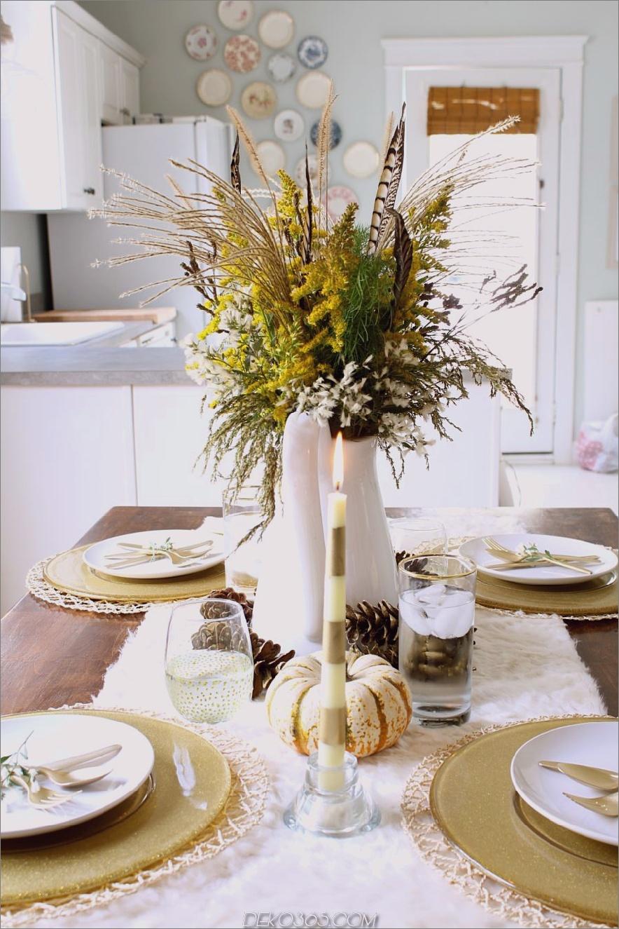 Einfache Thanksgiving Tischdekoration 900x1350 Wunderschöne Esstisch fallen Dekor Ideen für jeden besonderen Tag in Ihrem Leben
