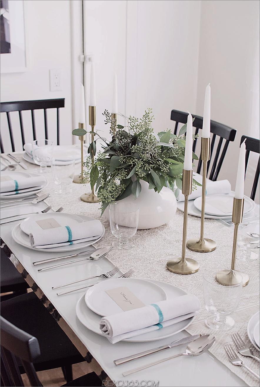 Eleganter Thanksgiving-Tisch