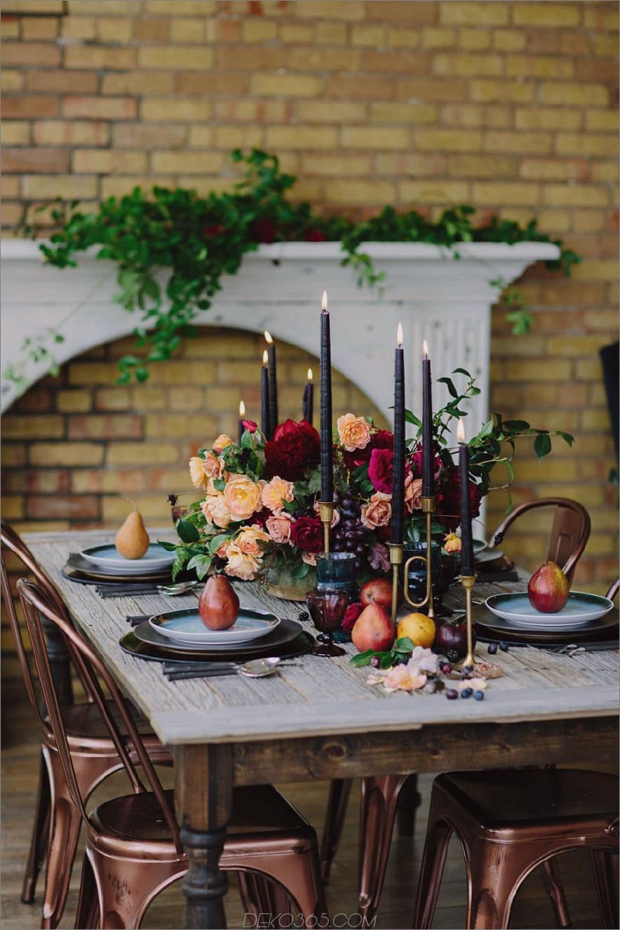 Rustikale moderne Herbst Tablescape