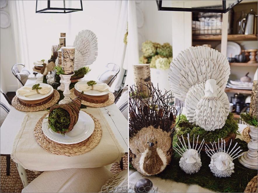 Rustikale moderne Tischdekorideen