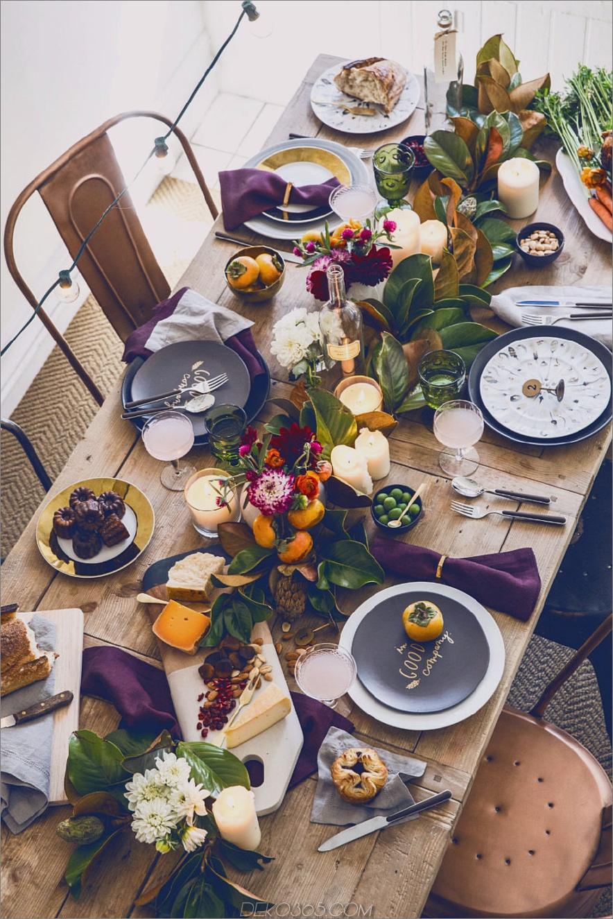Herbst Tischdekor Farben