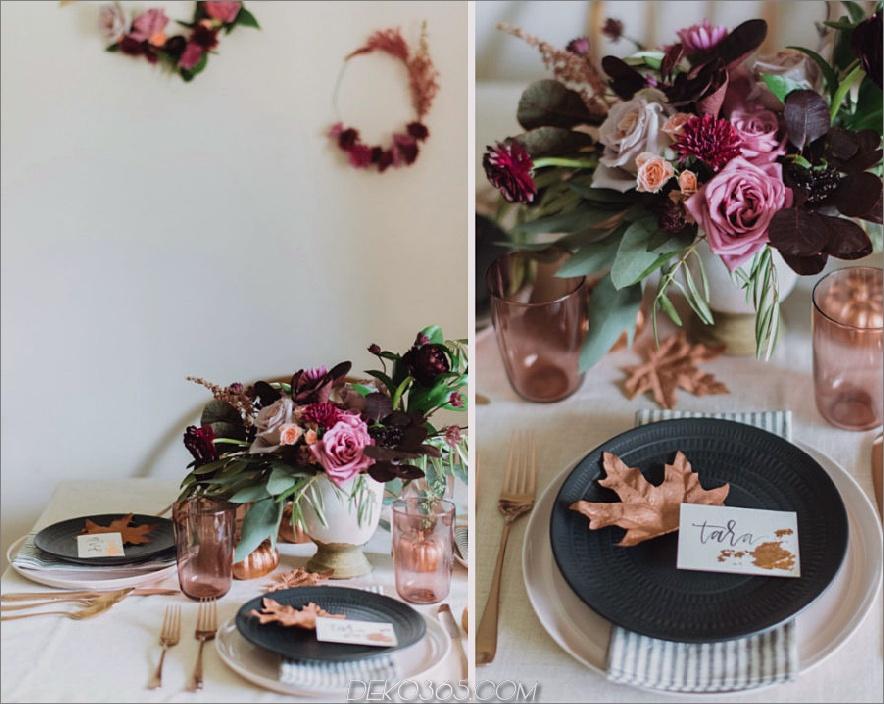 Thanksgiving freundliche Dinner tablecape
