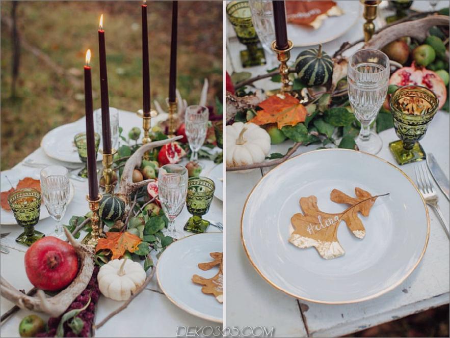 Wald Hochzeitstafel fallen