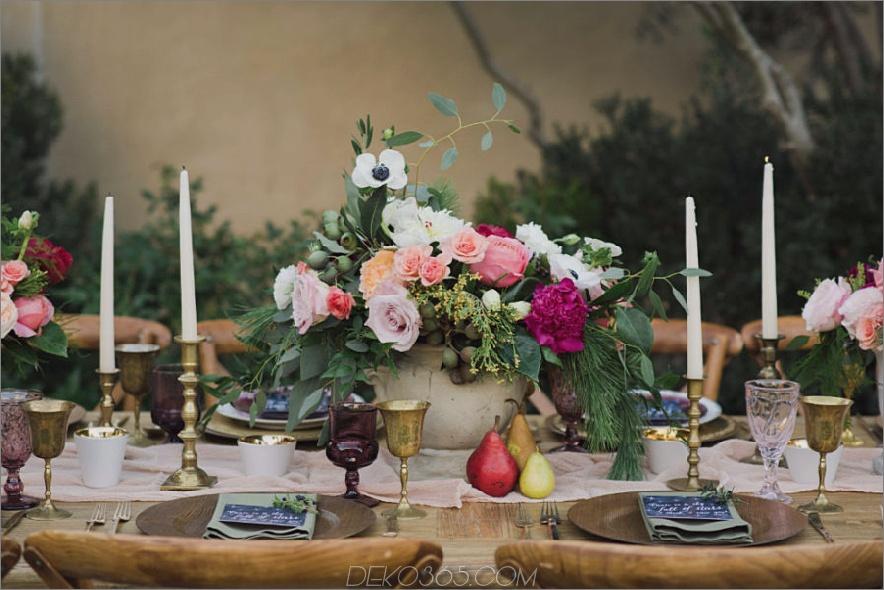 Blumenmittel für Herbsttischdekor