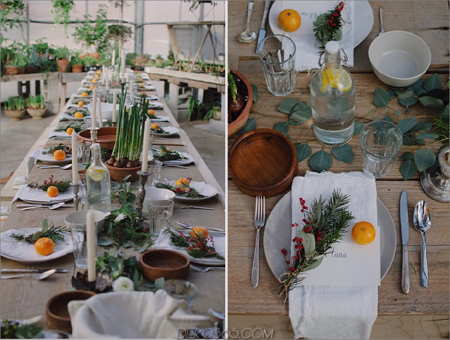 Mandarine Tischdekoration