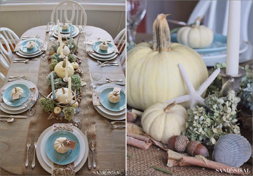 Coastal Thanksgiving Tischdekoration