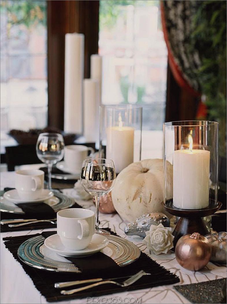 Zeitgenössischer Herbsttischdekor
