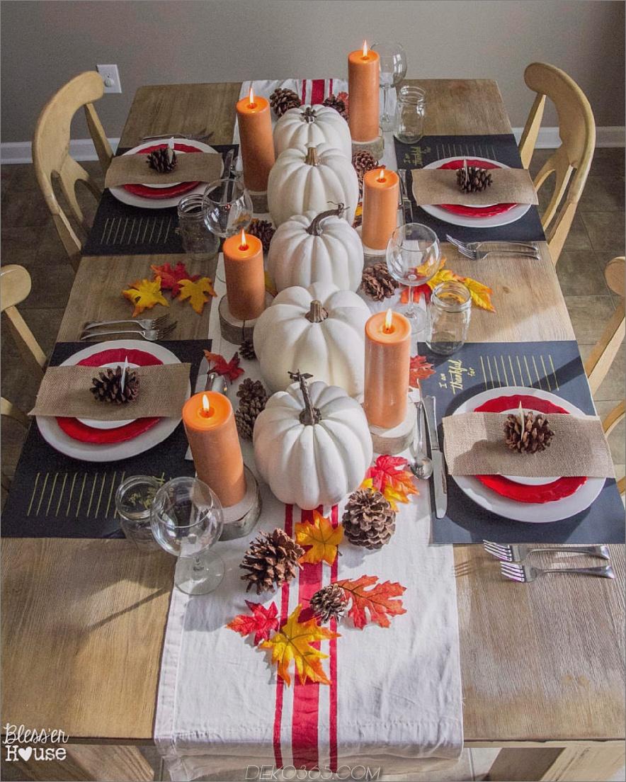 Modernistisches Thanksgiving-Tischdekor