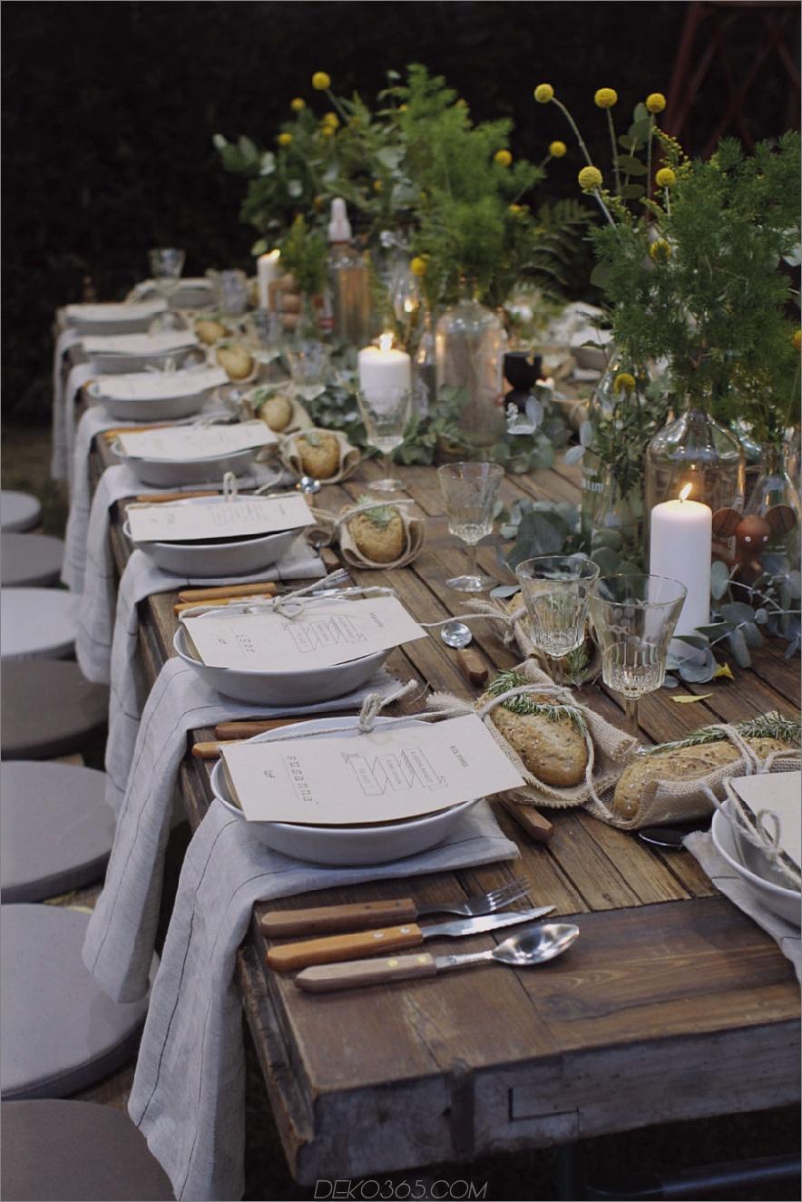 Gartenparty Tisch