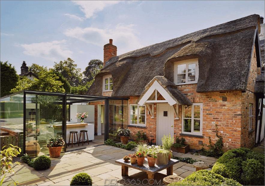 Englische Cottage Glas Erweiterung