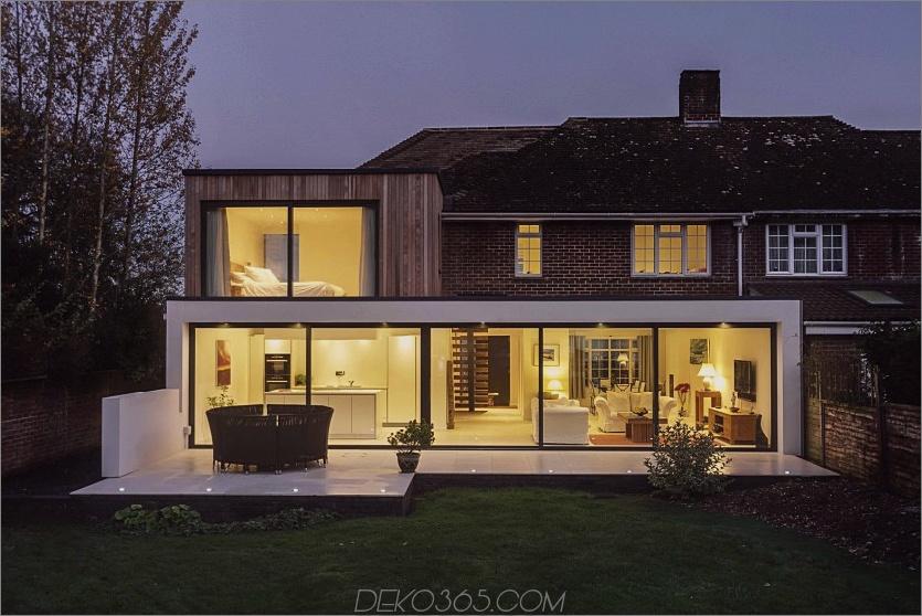 Die moderne Erweiterung des Beckett-Hauses, Nacht