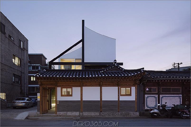 Traditionelle koreanische Hauserweiterung