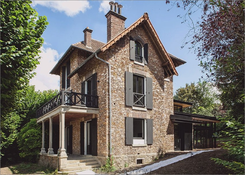 Traditionelle Paris-Hauserweiterung