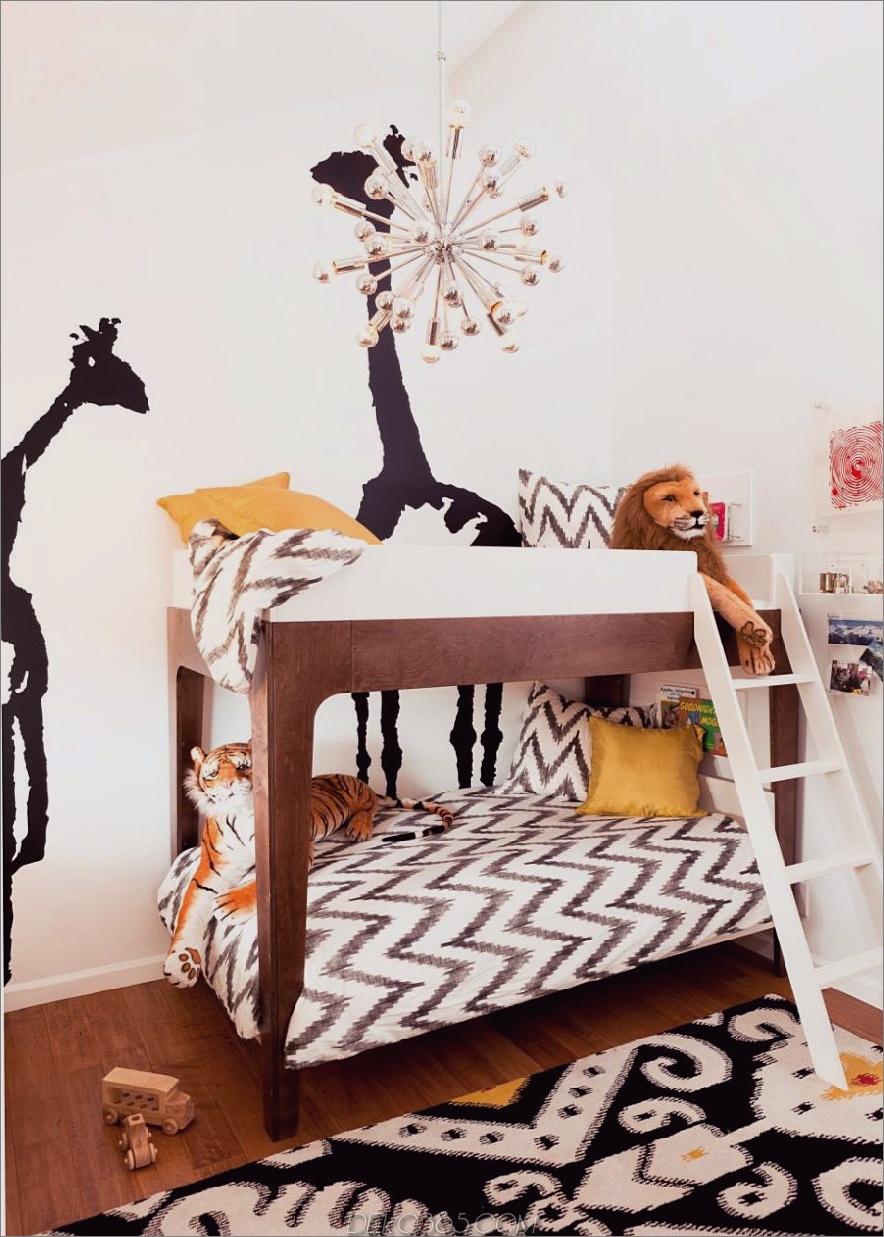 Super stilvolles gemeinsames Kinderzimmer von Little Crown Interiors