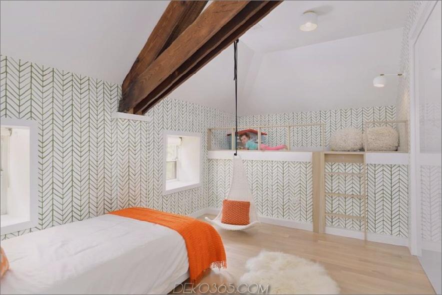 Kinderzimmer mit Dachboden von Linc Thelen Design