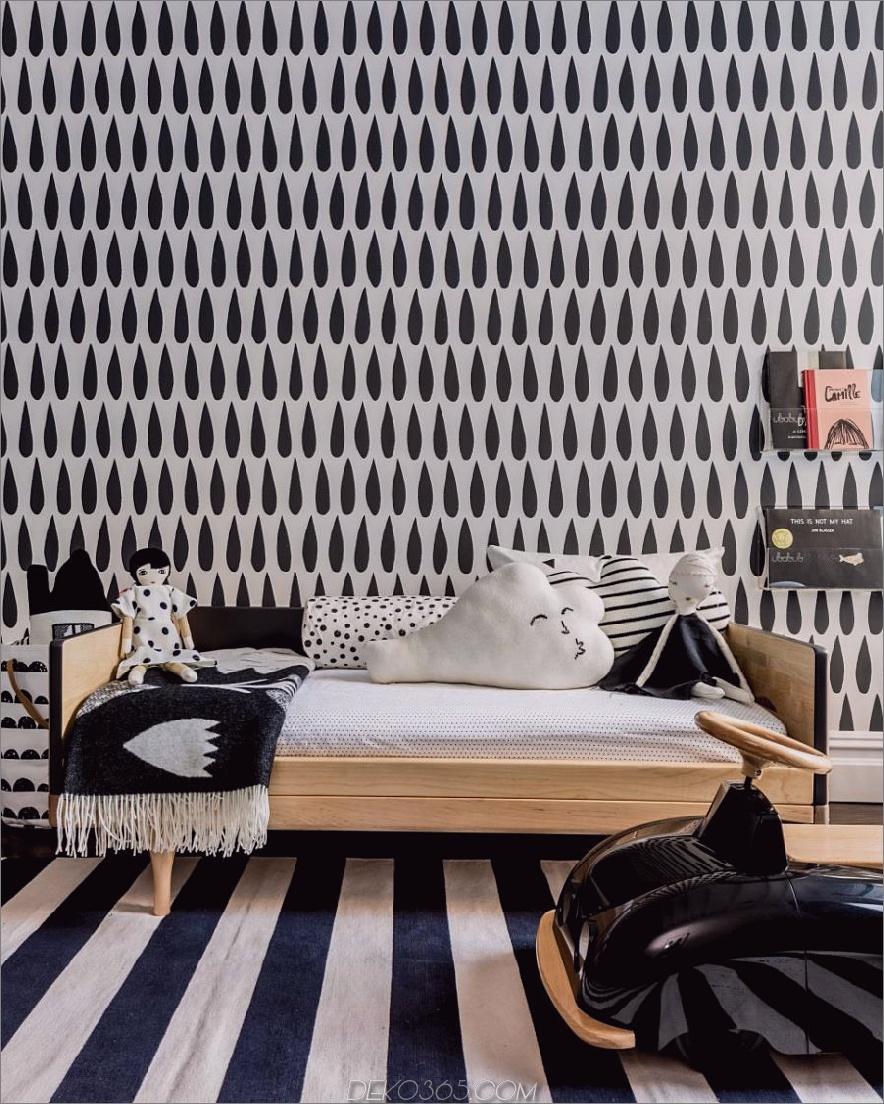 Stilvolles monochromatisches Kinderzimmer von Sissy + Marley