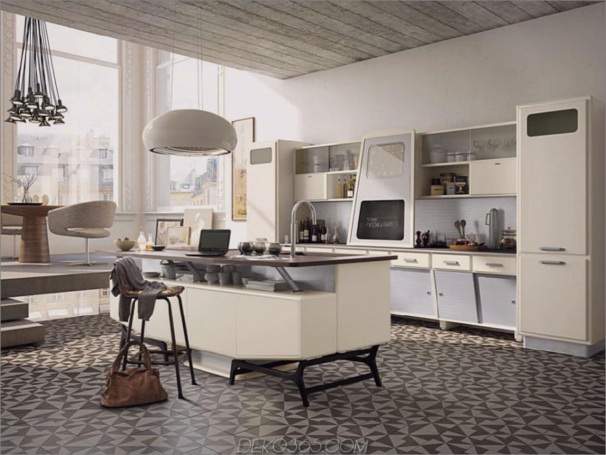 Retro-futuristische Küche Sant Louis (Zusammensetzung 05) von Marchi Cucine
