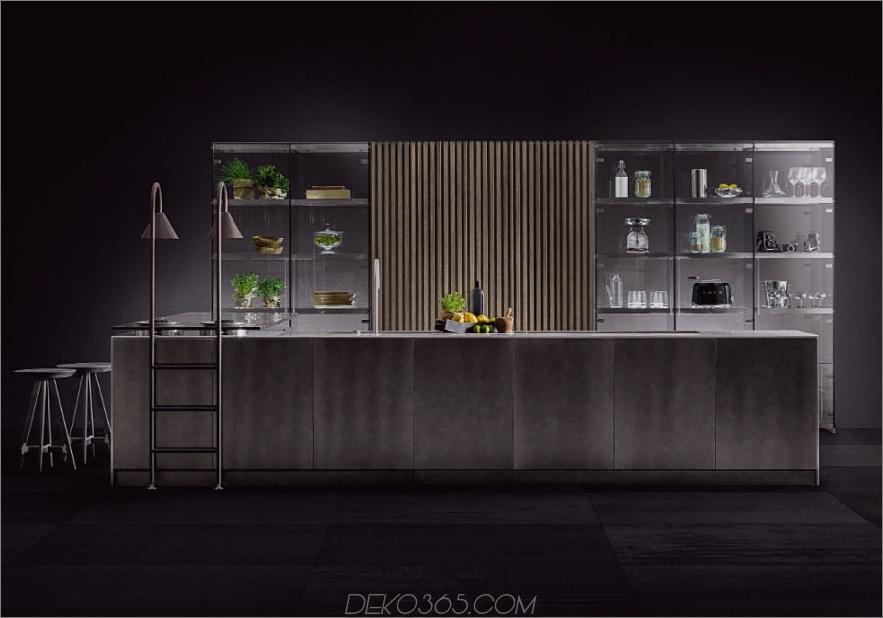 Moderne Küche mit Glasschränken von TM Italia Cucine
