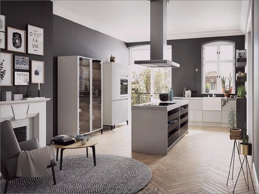 SieMatic Urban S2 SE Küche mit Kücheninsel und Glasschrank von SieMatic