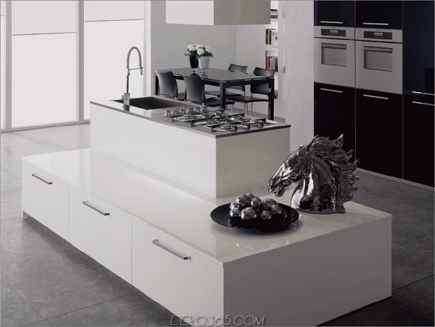 Geschichtete Kücheninsel Nxos von Del Tongo