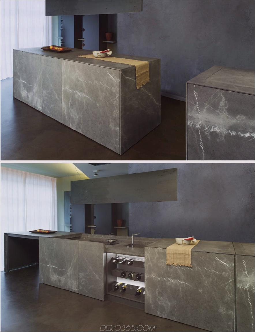 Ausziehbare Kücheninsel D90 von TM Italia Cucine