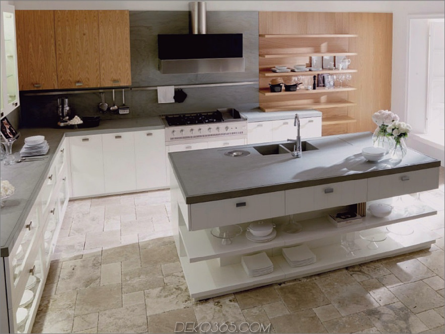 Nantia White Oak Kücheninsel von Toncelli Cucine