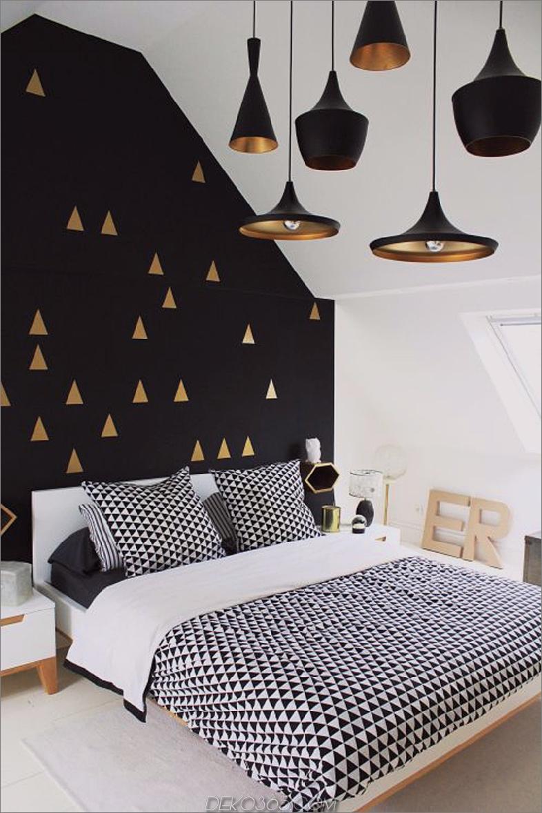 Einfarbiges Schlafzimmer
