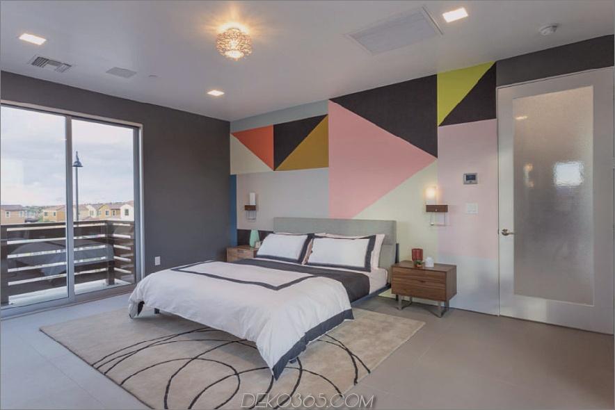 Modernes Schlafzimmer mit einer Wand