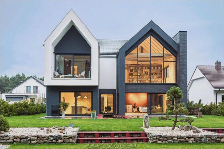 Zeitgenössisches Zuhause in Polen 900x599 Zeitgenössisches Einfamilienhaus in Polen gibt Ihre Ideen