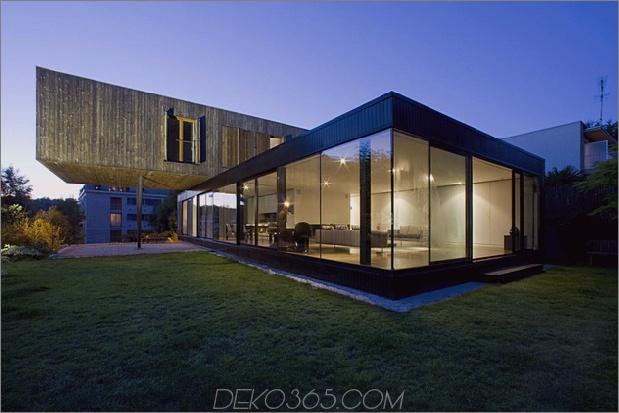 freitragendes französisches hausdesign aus holz und glas 1 thumb 630xauto 38257 Zeitgenössisches Cantilever-Hausdesign von Paris Architects