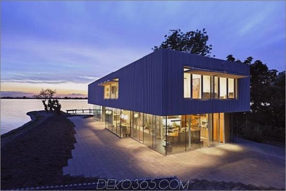 villa roling 2 Zeitgenössisches Haus am See vom niederländischen Architekten Paul de Ruiter