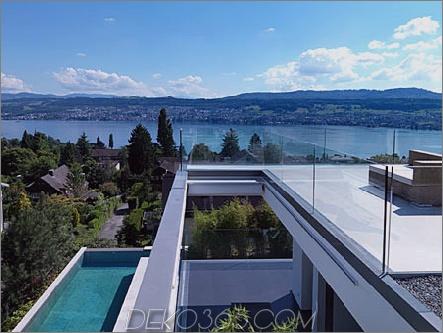 feldbalz haus 4 Zeitgenössisches Haus am Zürichsee, Schweiz Stilvoll, skulptural