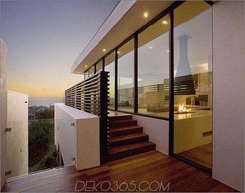 Zeitgenössisches Wohndesign in Manhattan Beach dreistöckiges Haus mit Aufzug