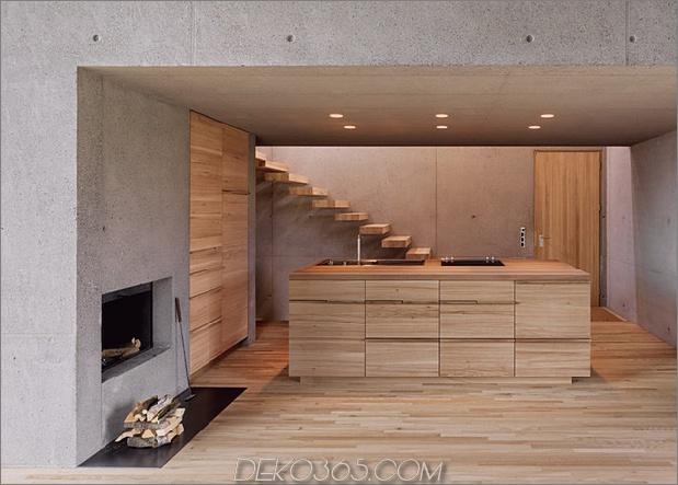 zwei Betonwürfel, bestehend aus Hauptgasthaus, 11-kitchen.jpg